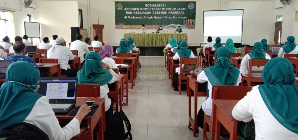 Sosialisasi AKM (Asesmen Kompetensi Minimum) Nasional di MAN Kota Surabaya